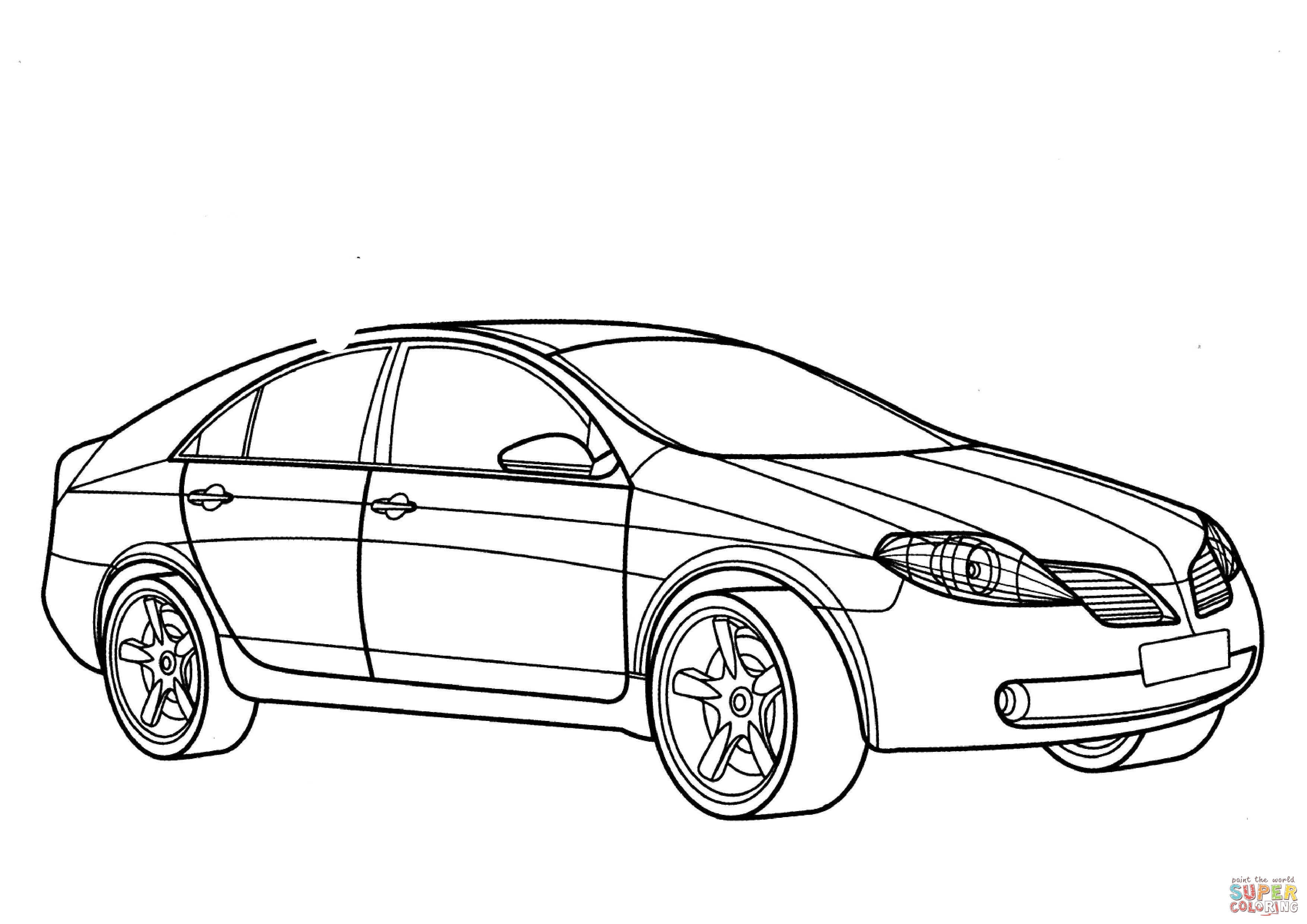 Nissan Primera Coloring Page