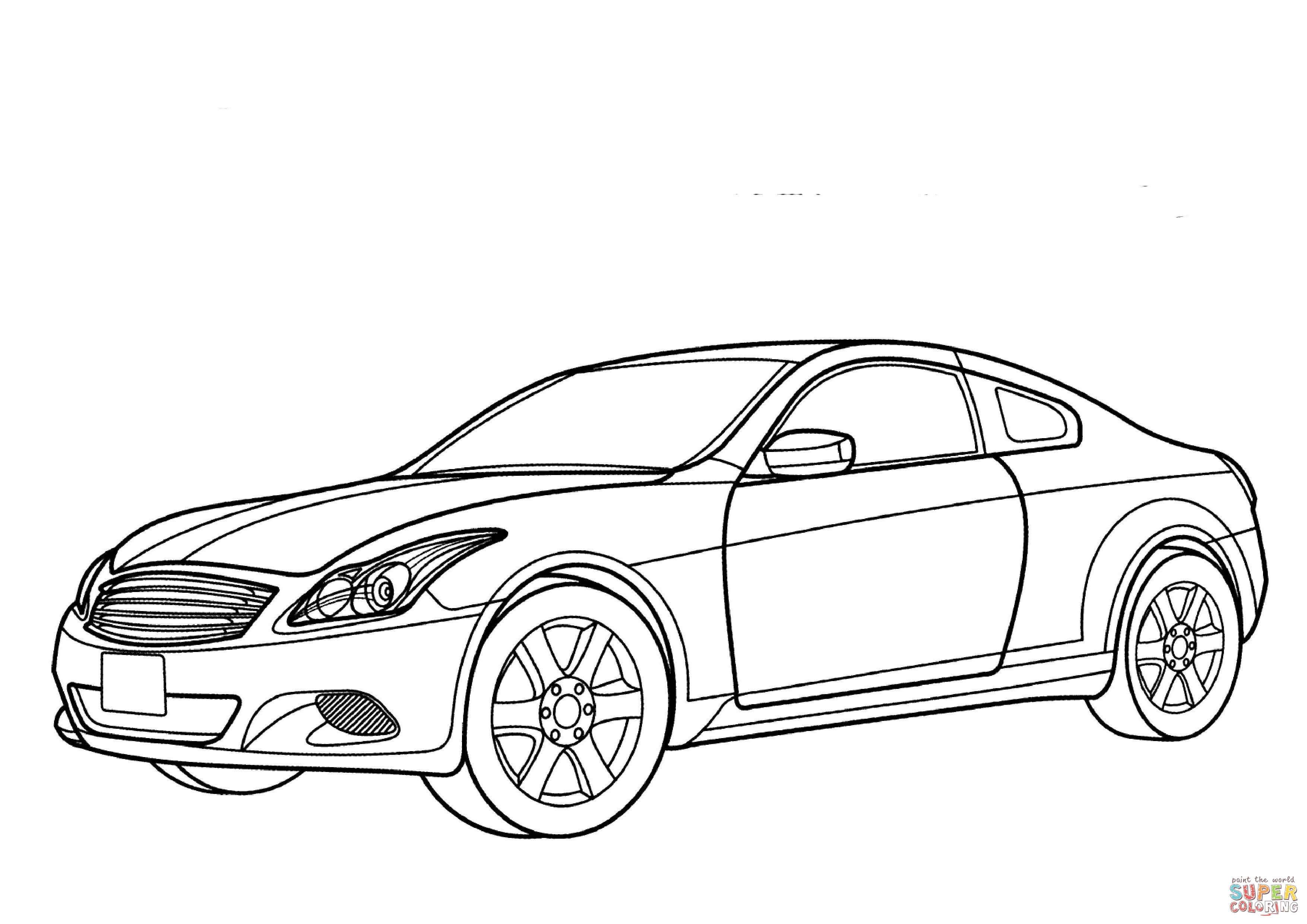 Nissan Gtr Coloring Pages