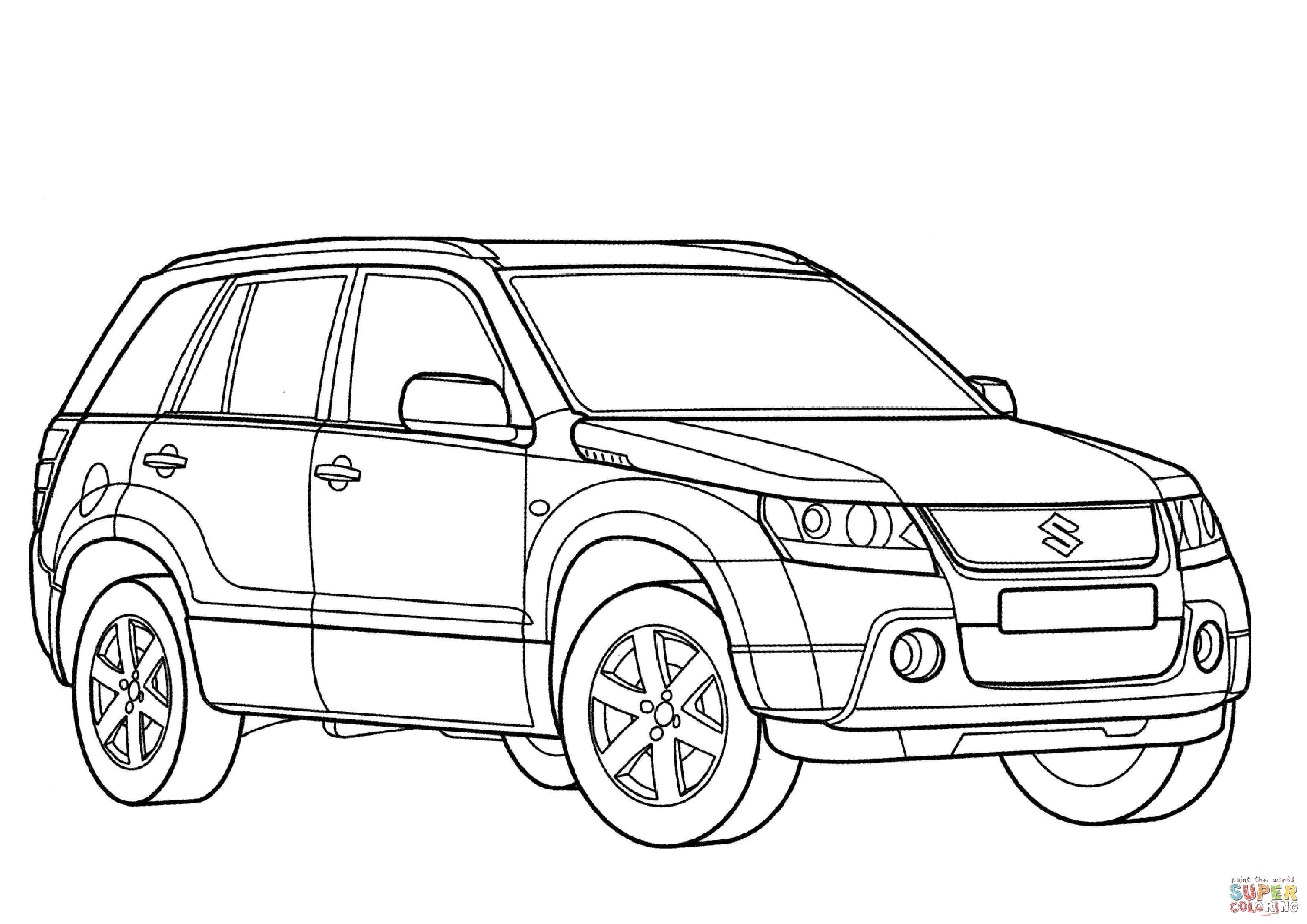 Suzuki Grand Vitara Coloring Page