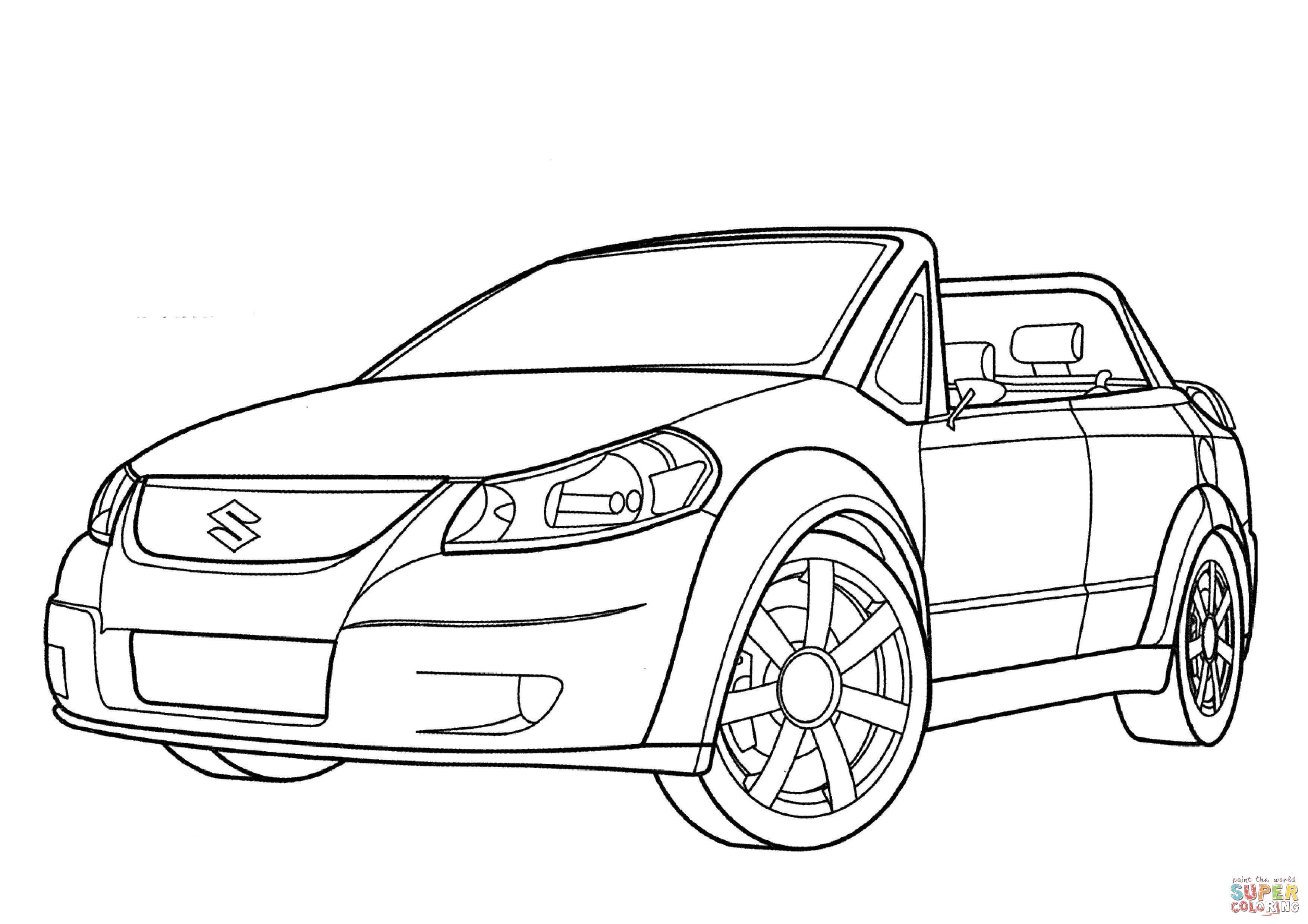Suzuki Makai Coloring Page