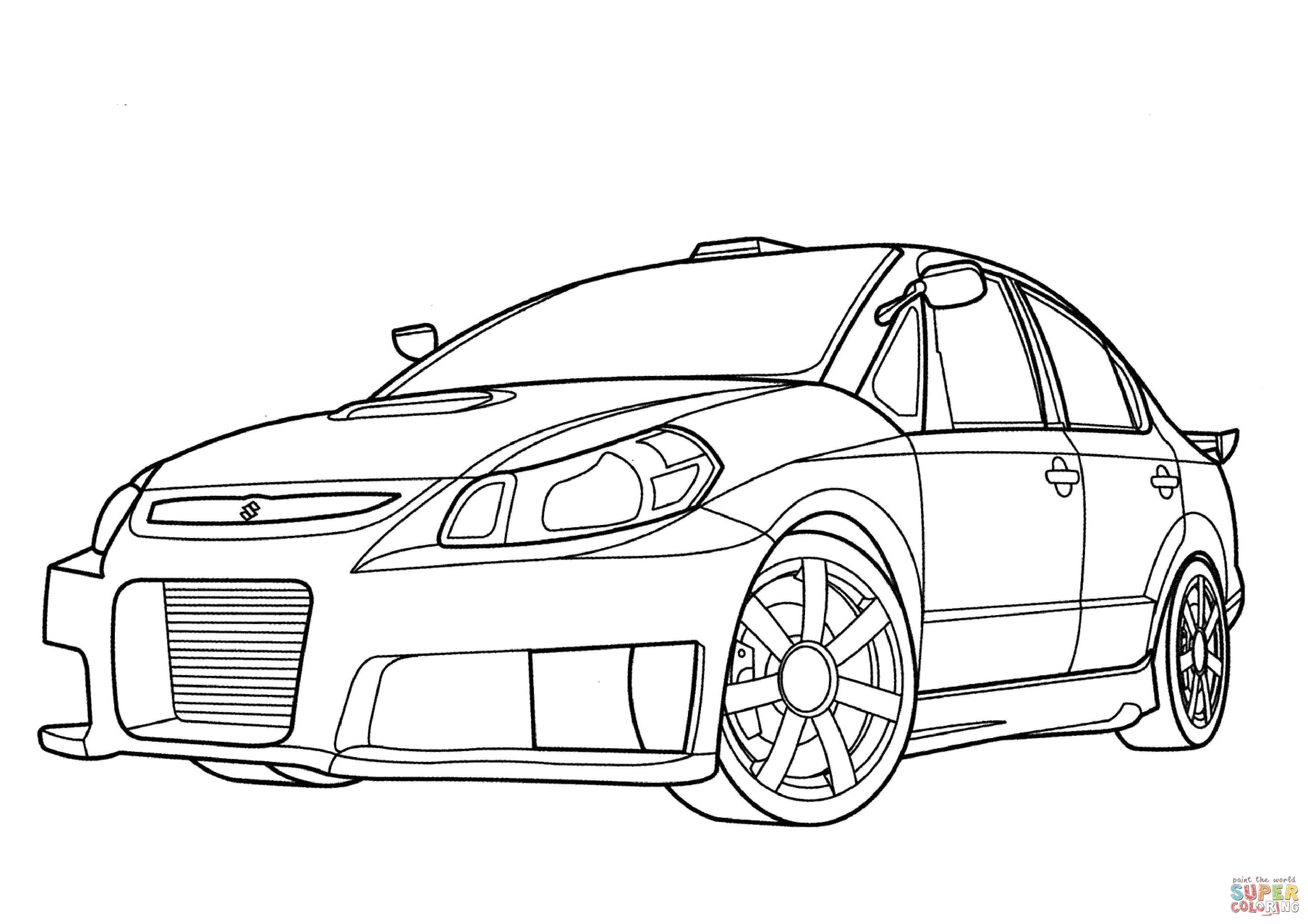 Suzuki Sx Force Coloring Page