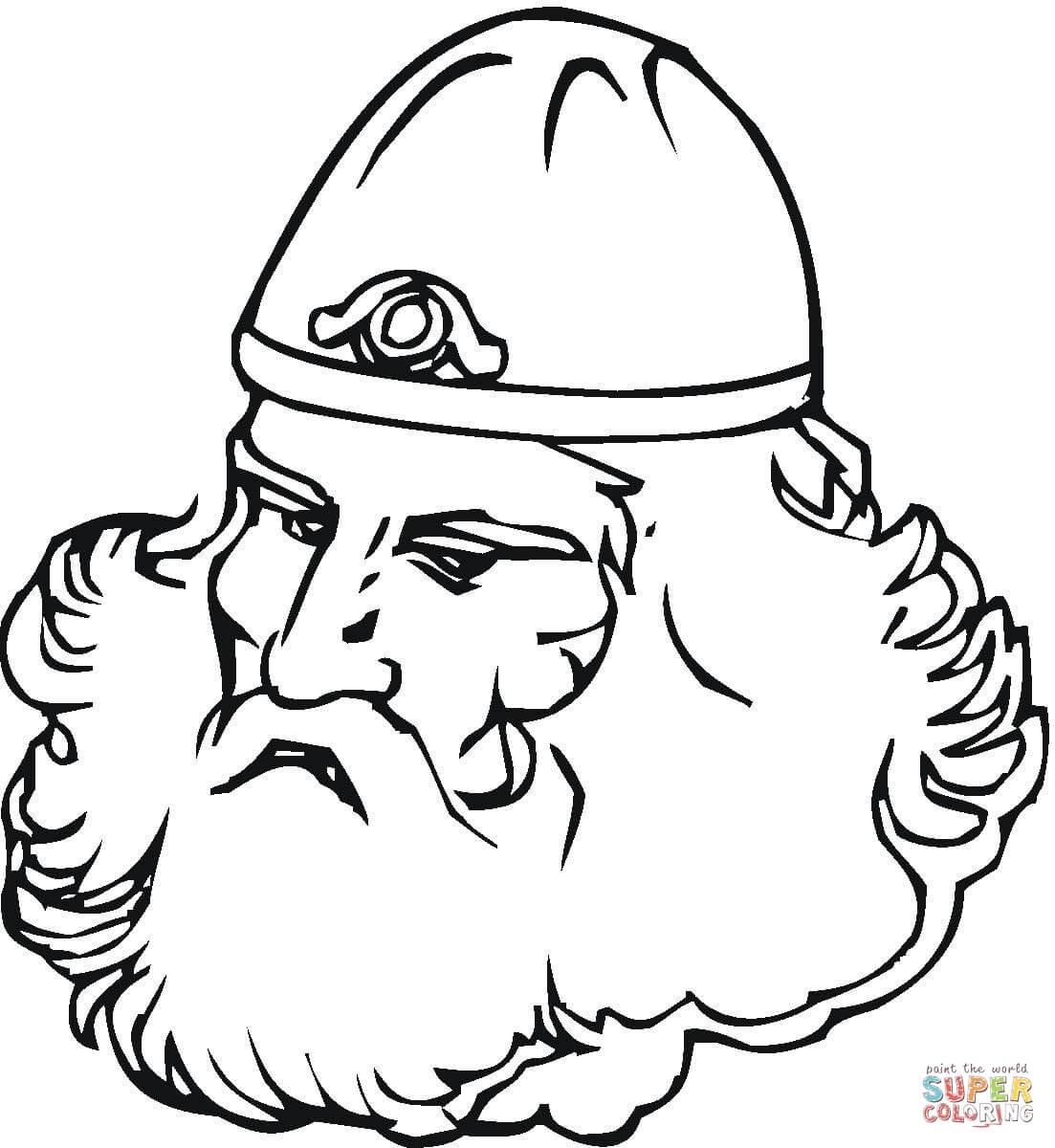 Viking With Big Beard Coloring Page