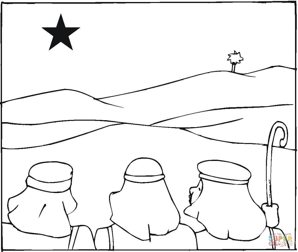 Wise Men Are Following The Star Coloring Page