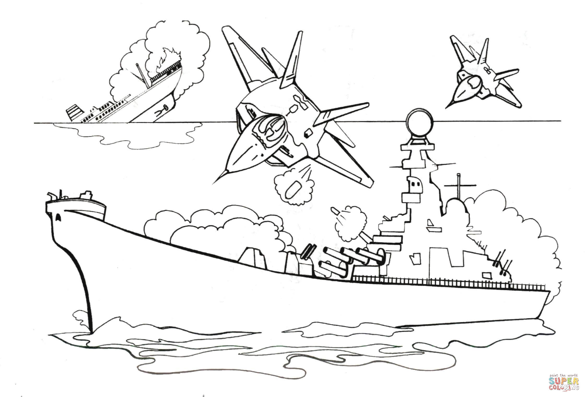 Ing Battleship Withs Coloring Page