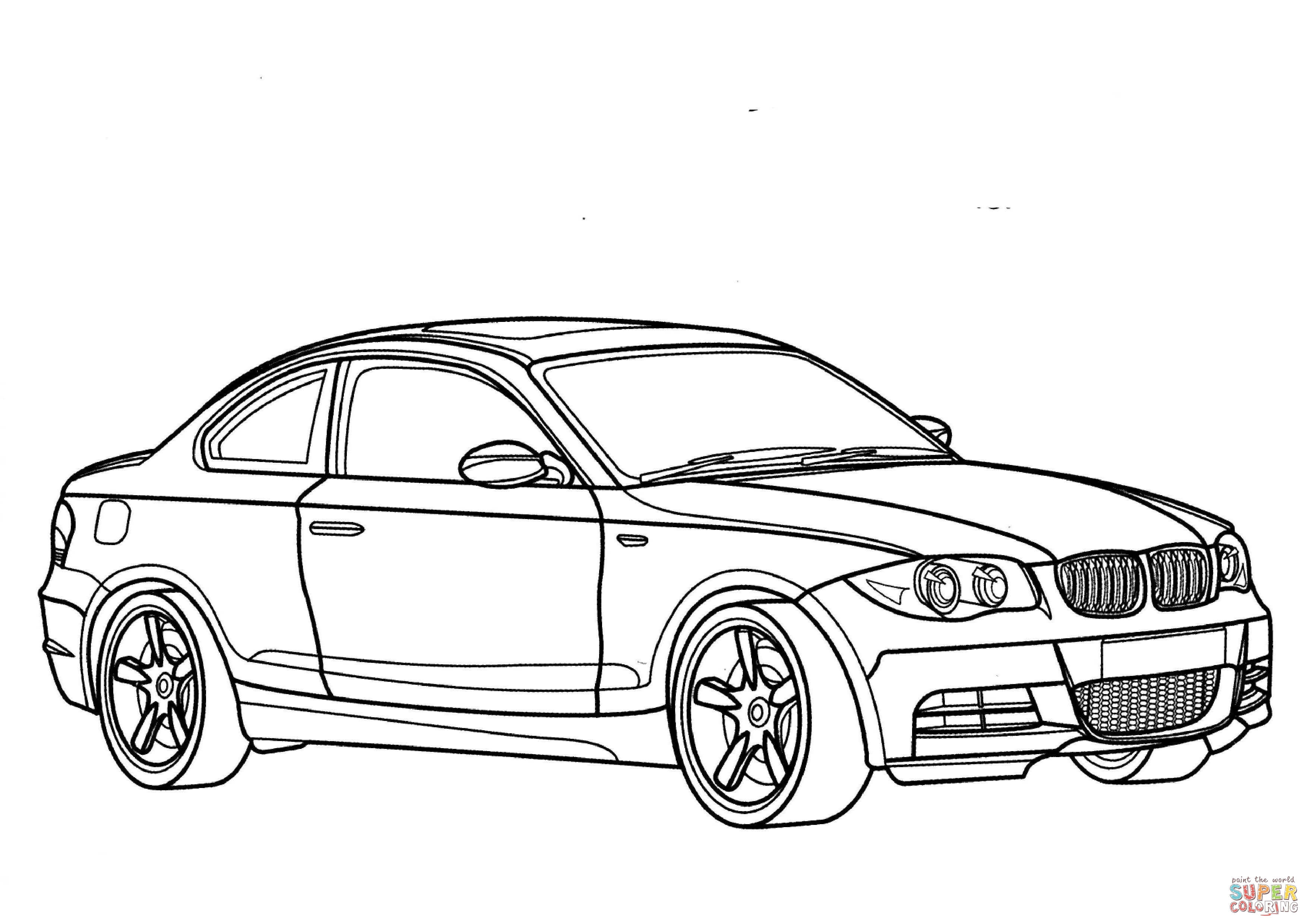 Bmw 1 Series Coloring Page