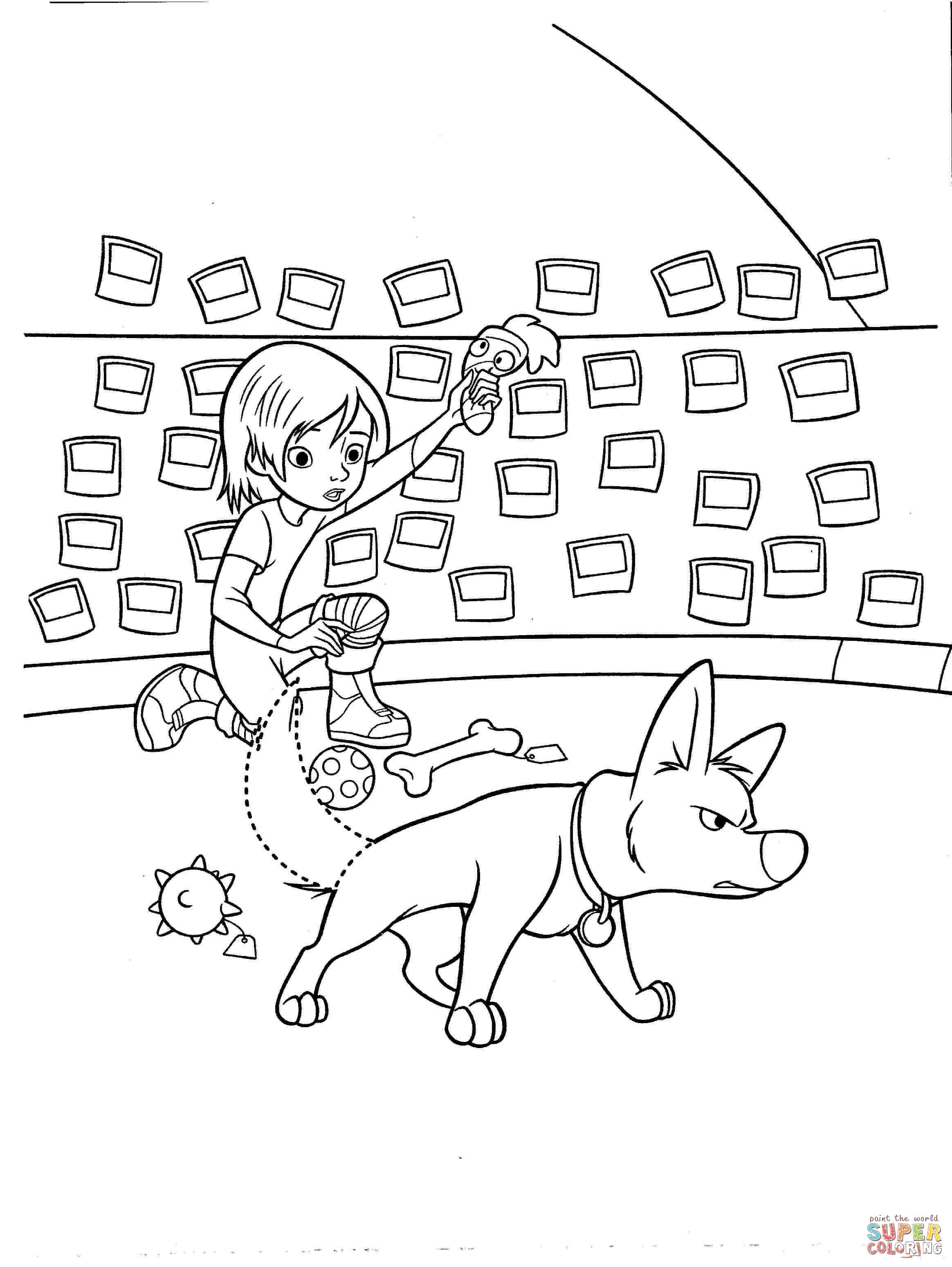 bolt is always ready to help penny coloring page free printable