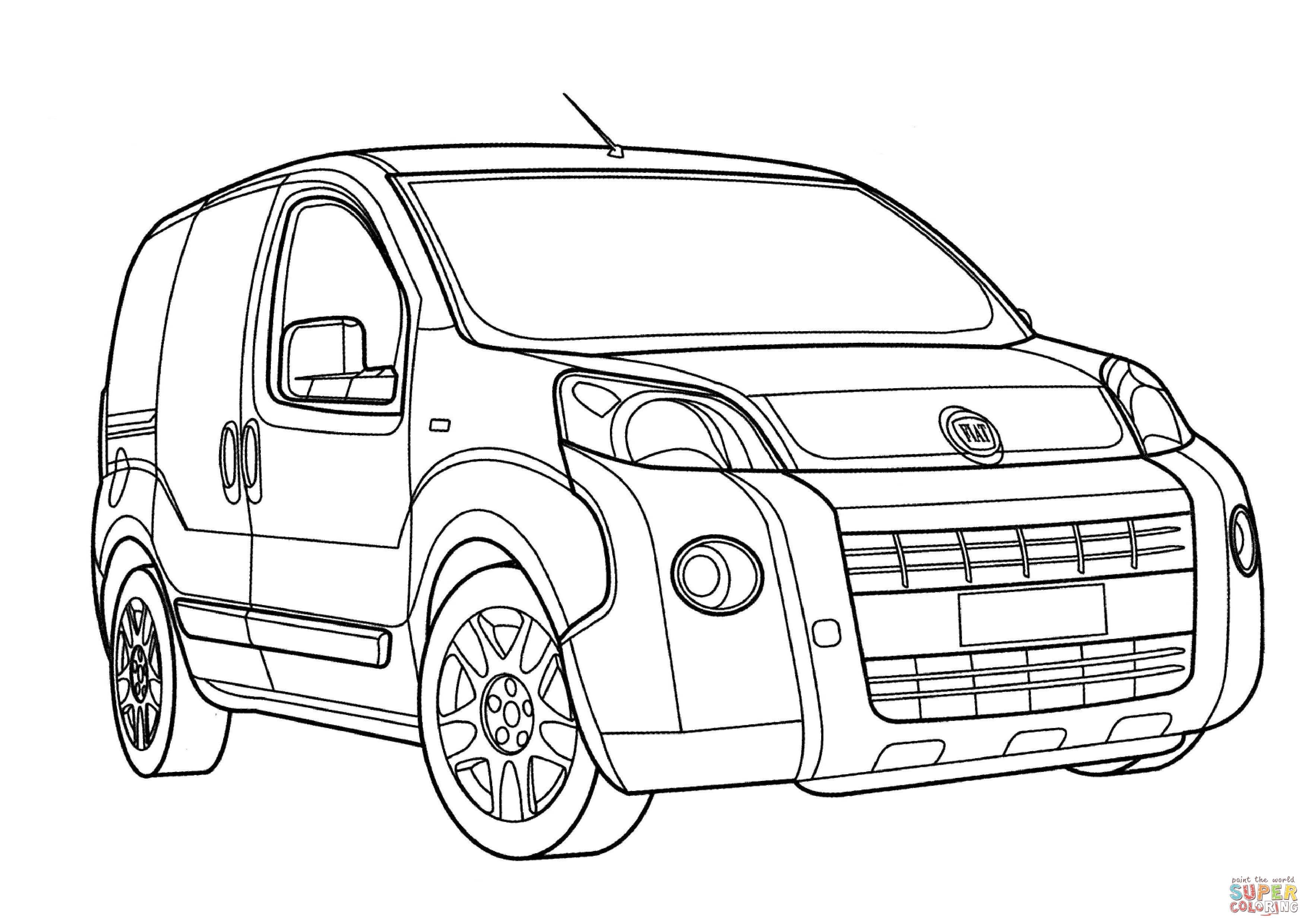 Fiat Fiorino Coloring Page