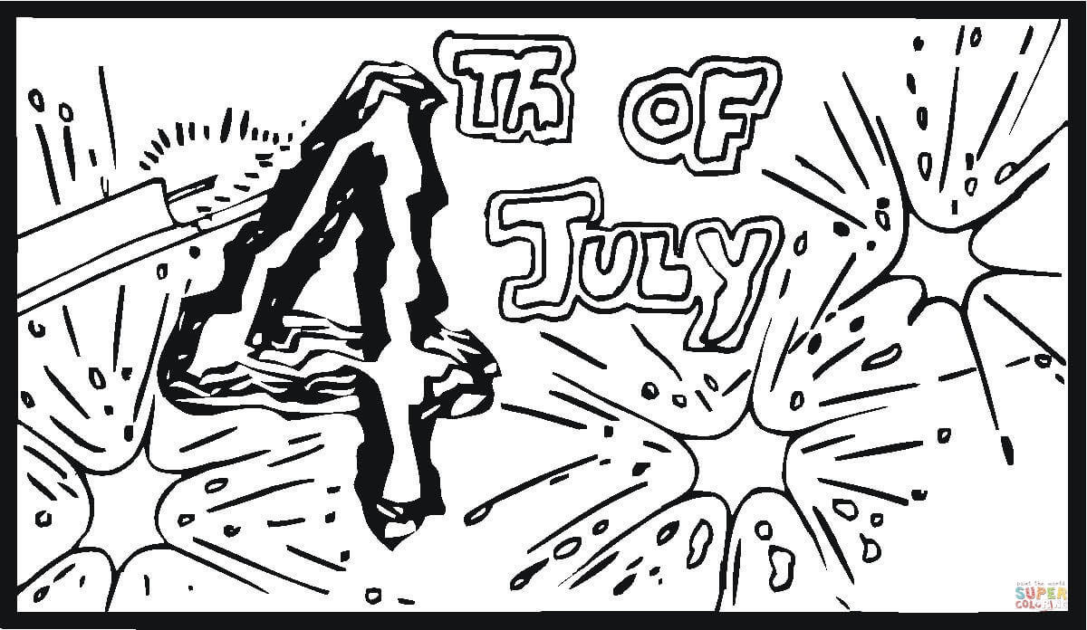 fourth of july big fireworks coloring page supercoloring com
