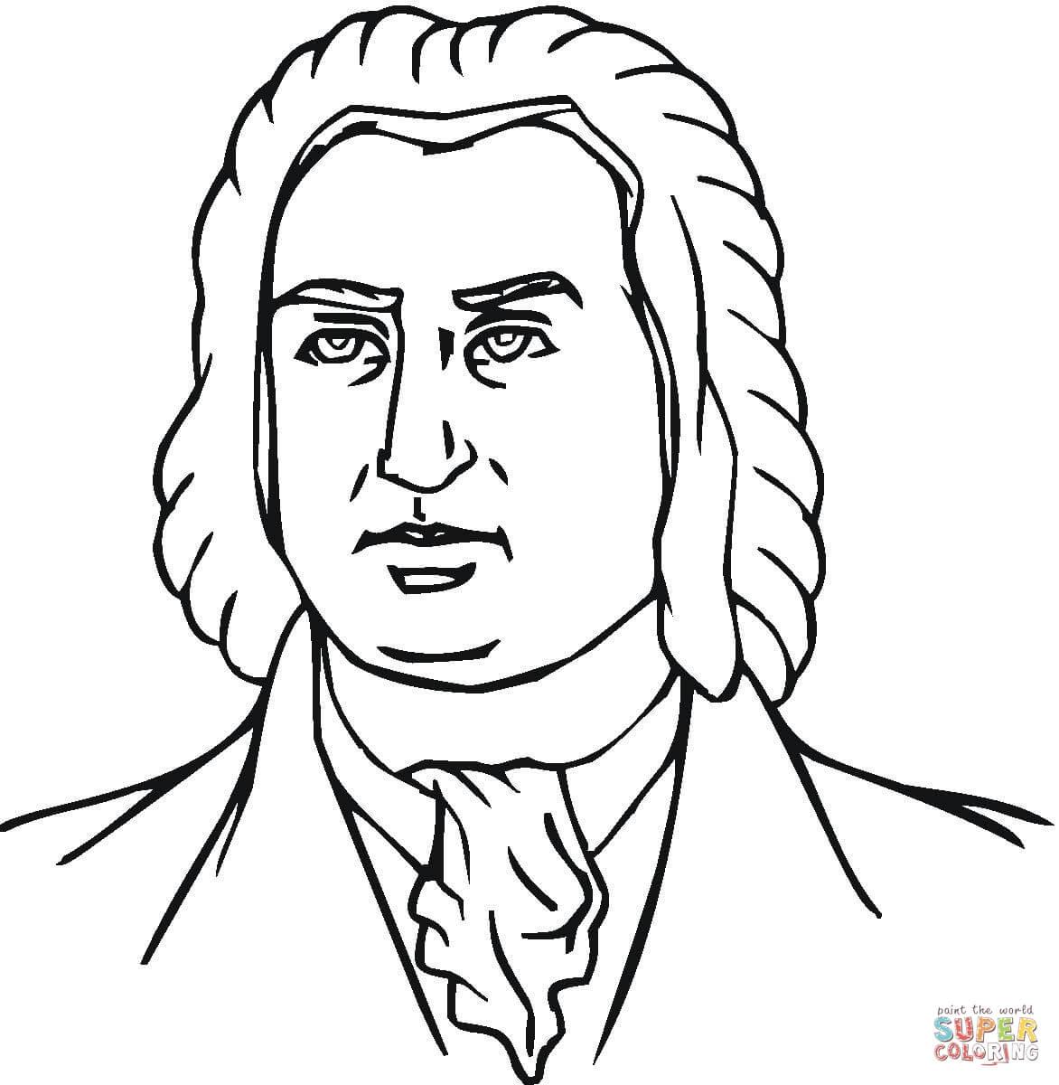 Johann Sebastian Bach Coloring Page