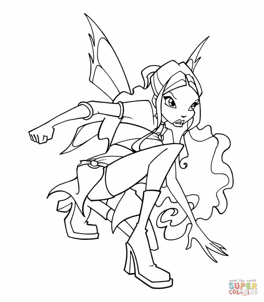 click the layla coloring page to view printable version or color it