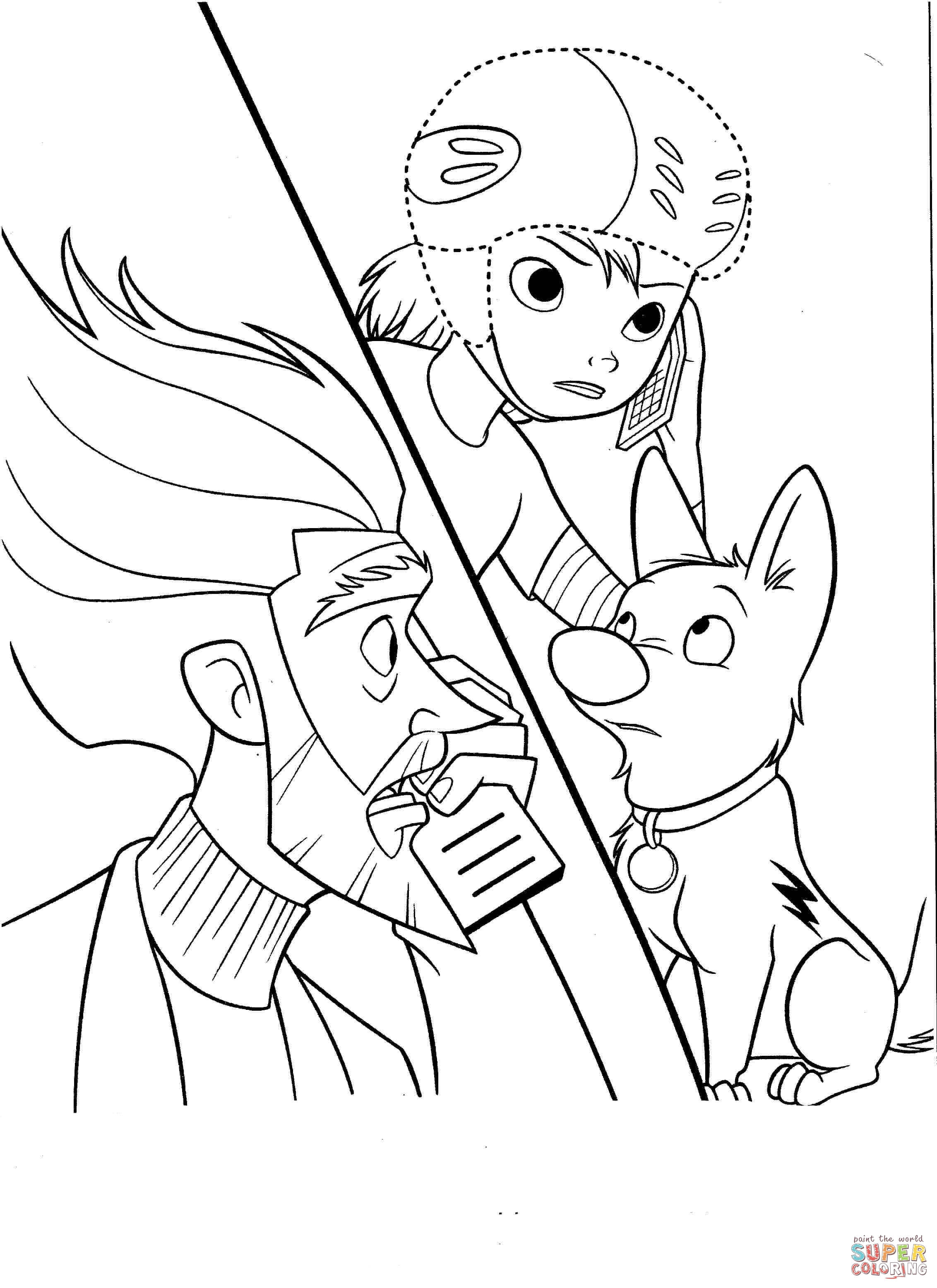 bolt coloring pages free coloring pages
