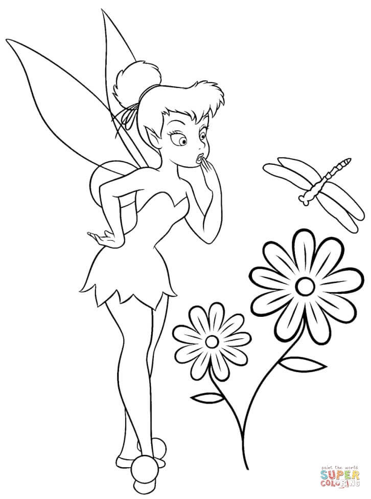 tinkerbell coloring pages free coloring pages