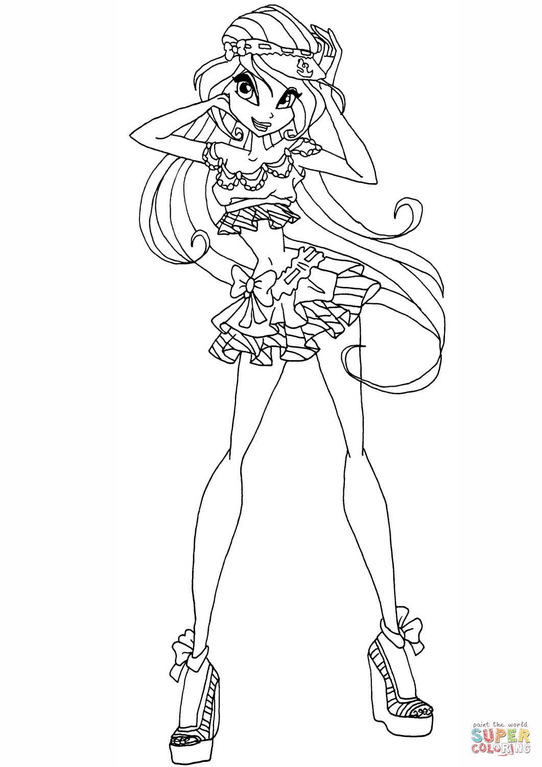 Princess Bloom Coloring Page Free Printable Coloring Pages