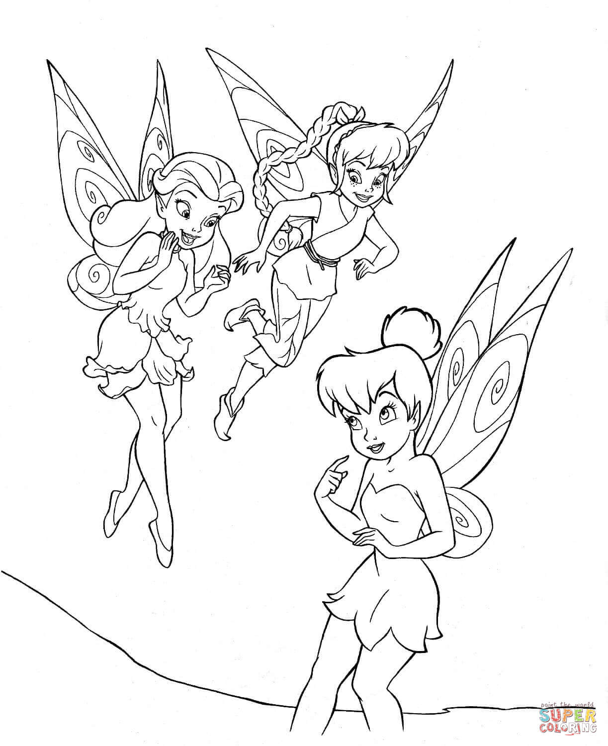 disney fairies coloring pages free coloring pages