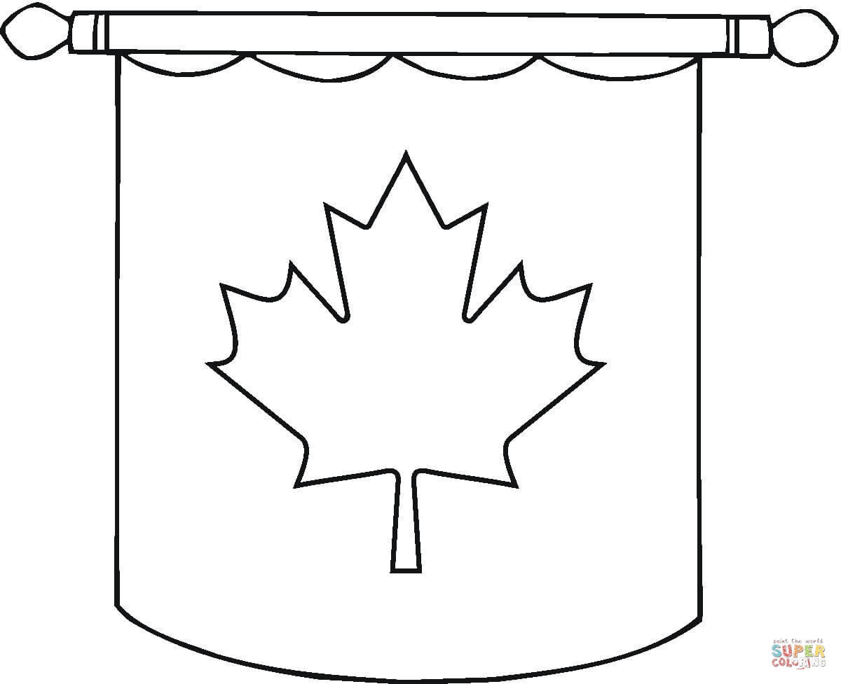 hanging canadian flag coloring page free printable coloring pages