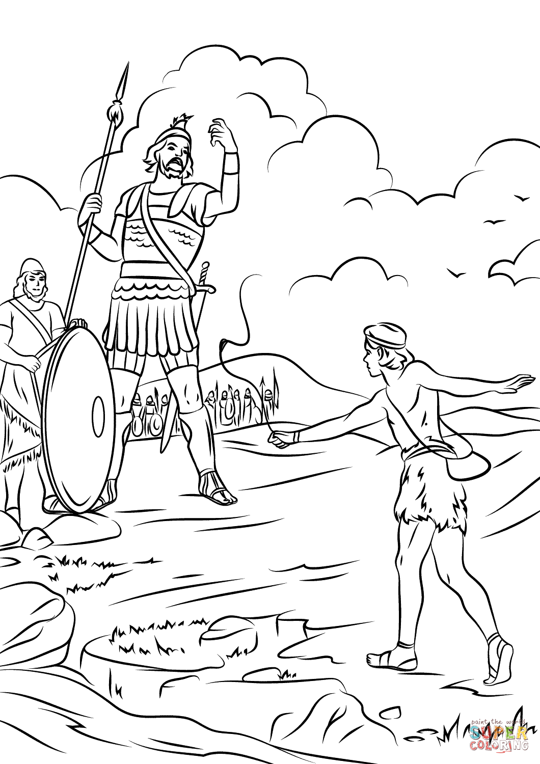 No David Coloring Pages Coloring Pages