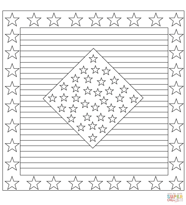 Stars and Stripes coloring page  Free Printable Coloring Pages