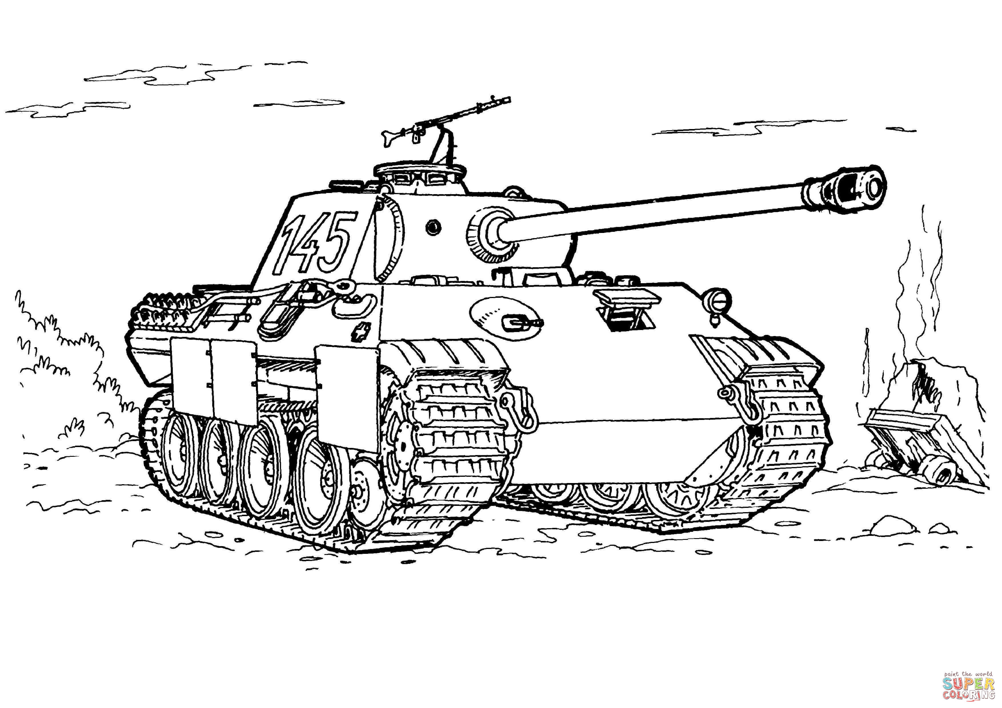 Panther Tank Coloring Page Free Printable Coloring Pages