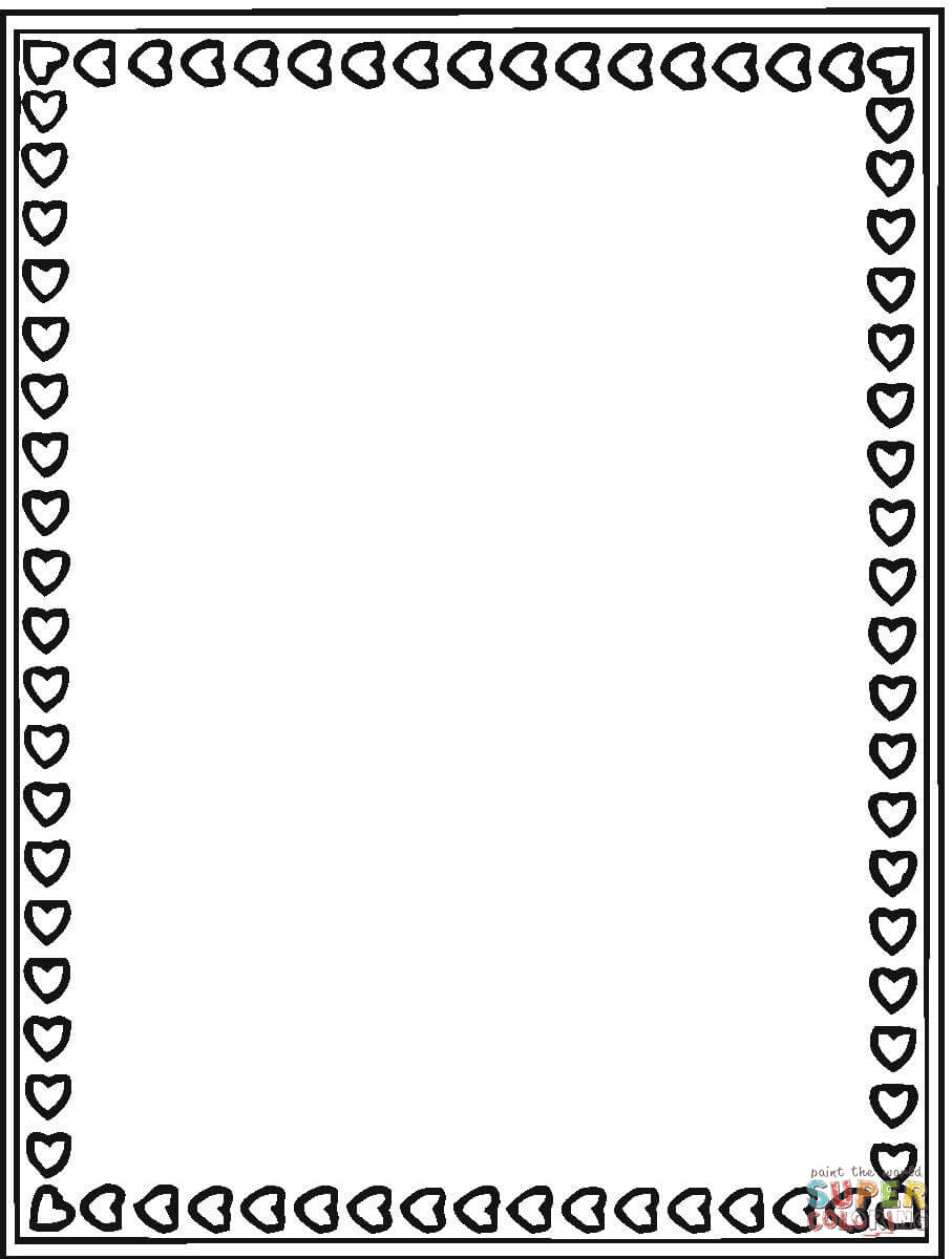 Valentines Day Card Coloring Page Free Printable