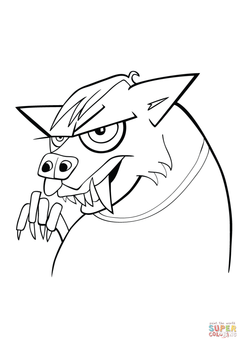 werewolf coloring page  free printable coloring pages