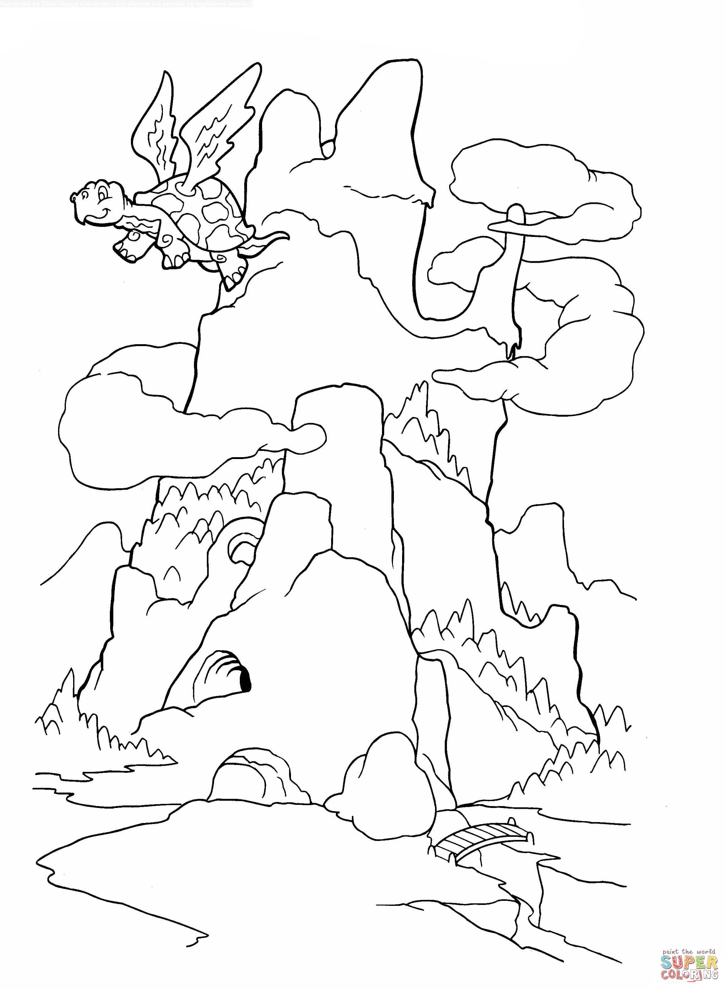 Ausmalbild Der Drachenberg
