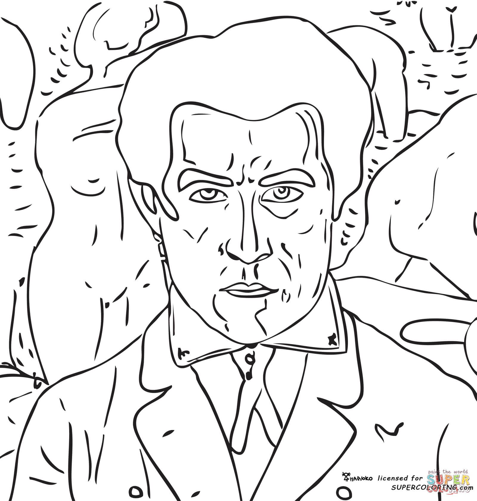 You Self Portrait Coloring Pages