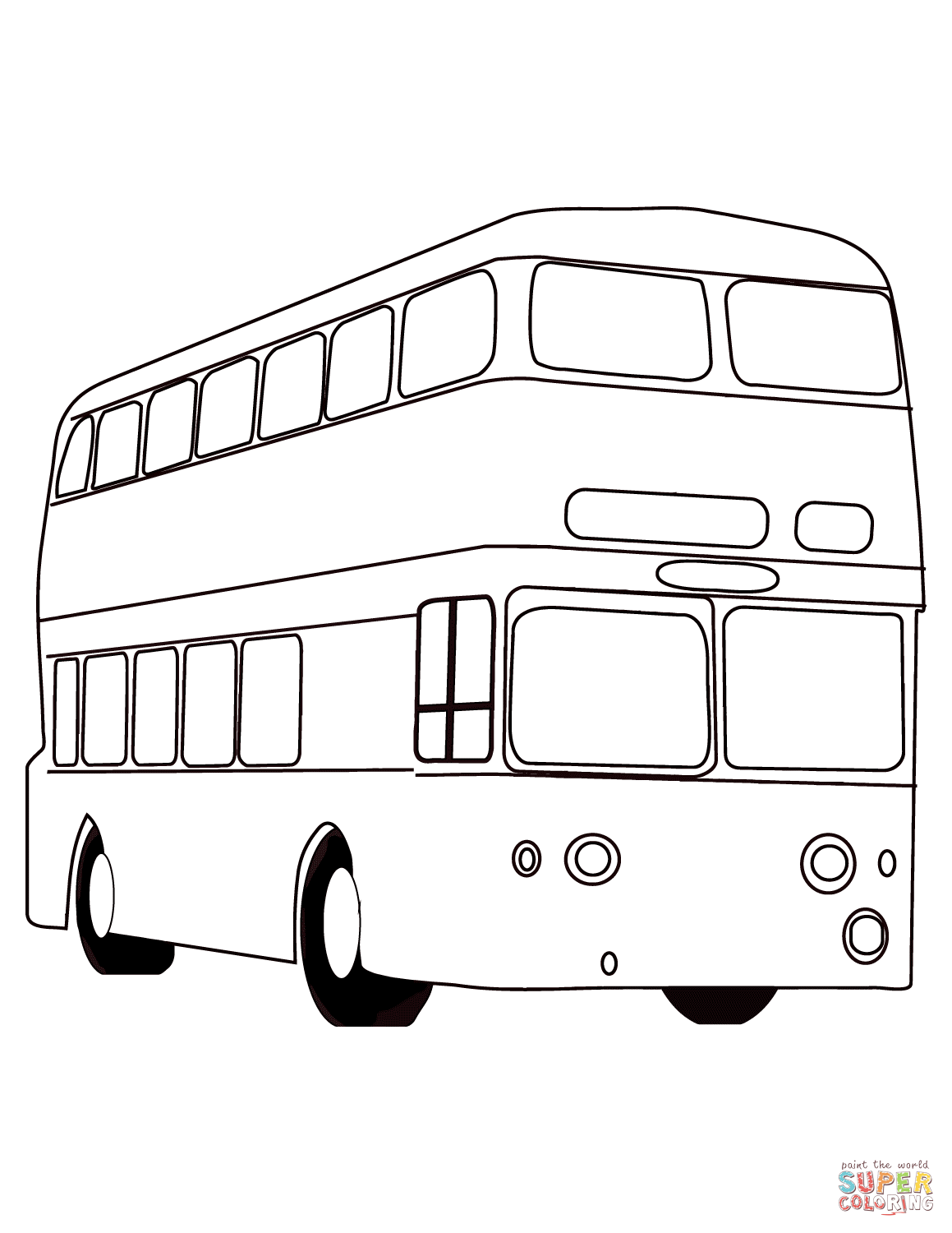 London Red Bus Coloring Page