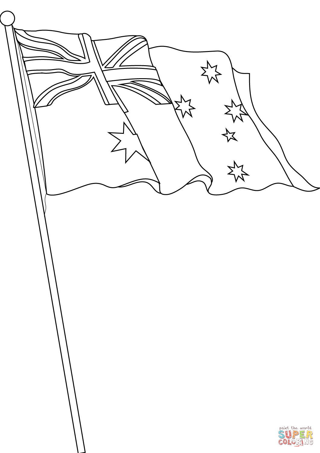 flag of australia coloring page free printable coloring pages