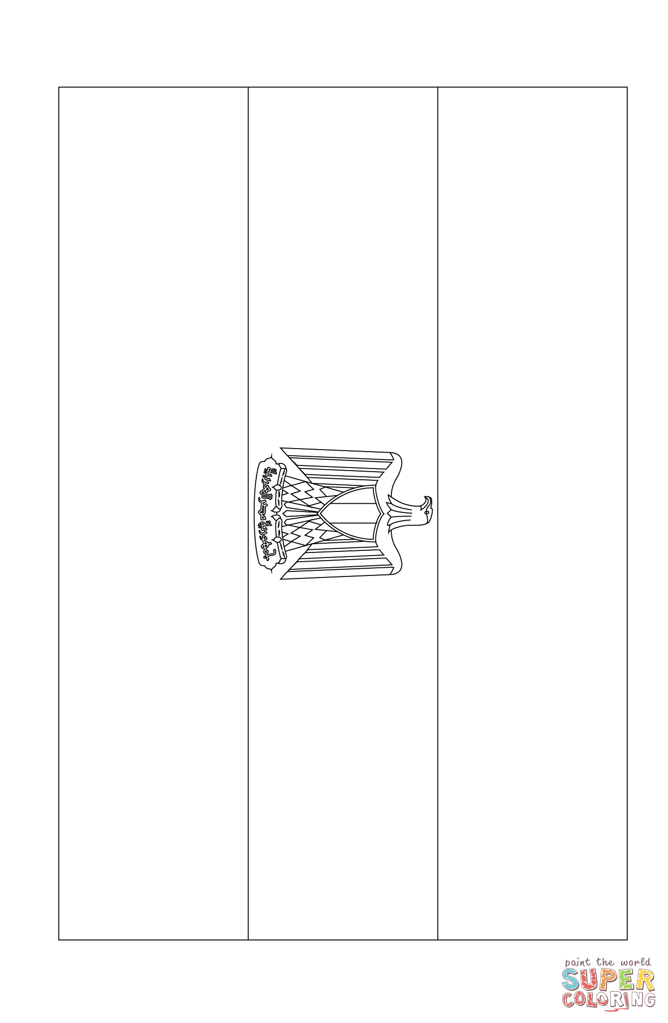 flag of egypt coloring page free printable coloring pages