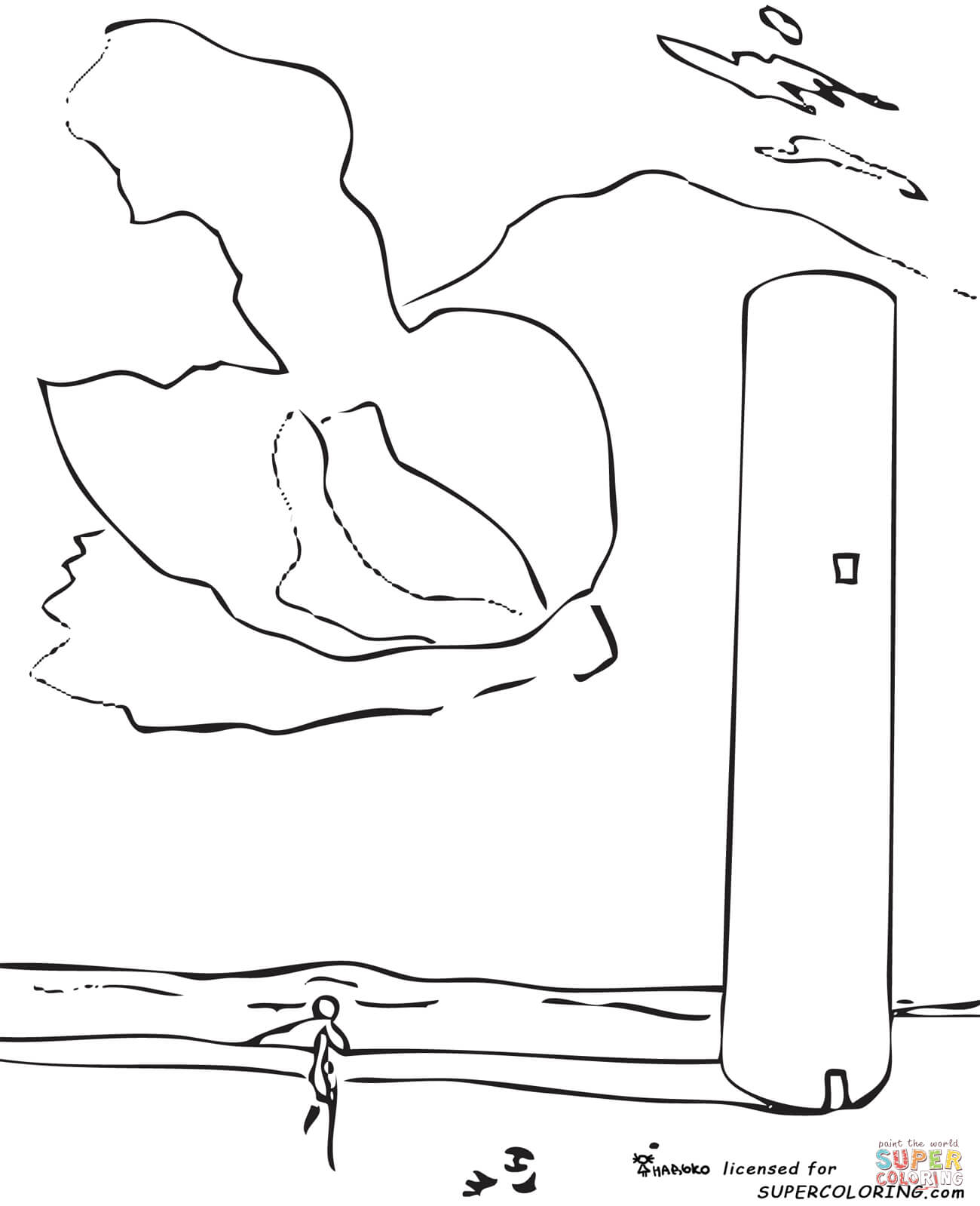 The Tower By Salvador Dali Coloring Page