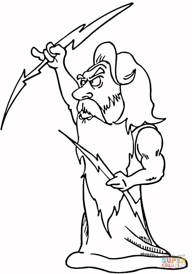 Zeus Coloring Page Free Printable Coloring Pages