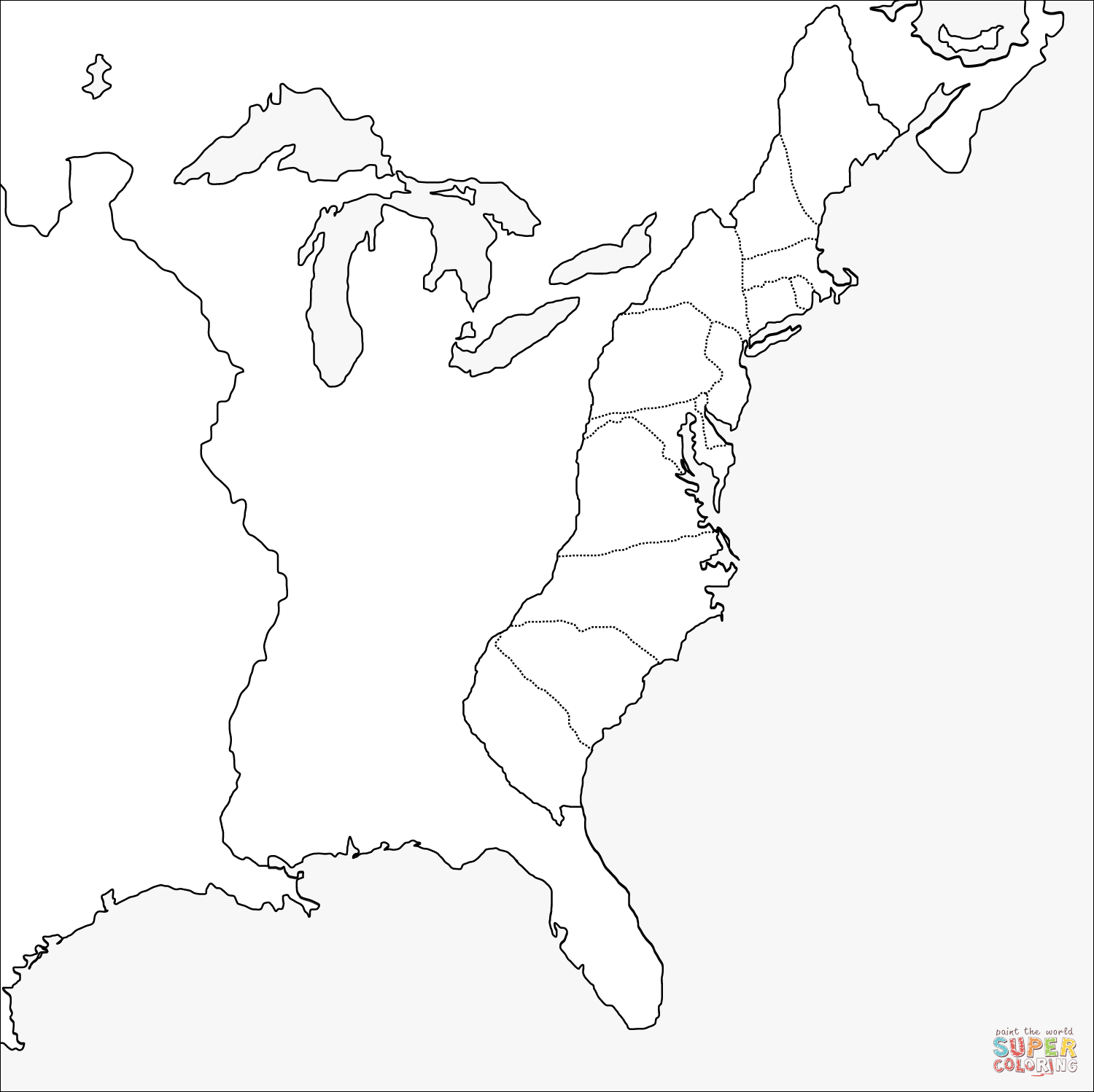 13 Colonies Fill In Thye Blank