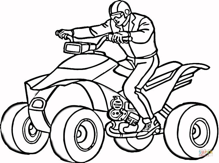 man on atv coloring page free printable coloring pages