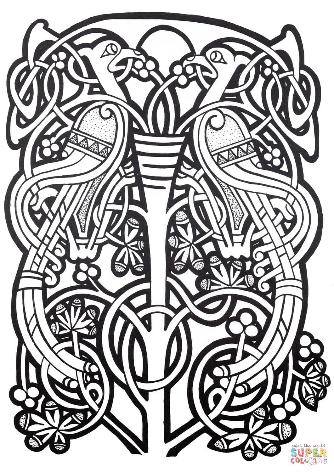 Celtic Designs Coloring Page Free Printable Coloring Pages