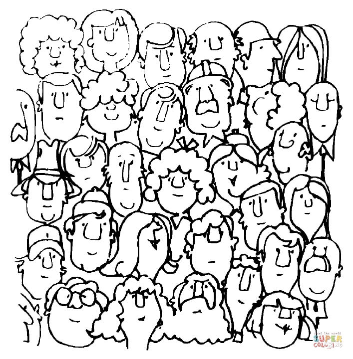 faces coloring page free printable coloring pages