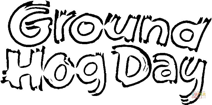 day of groundhog coloring page free printable coloring pages