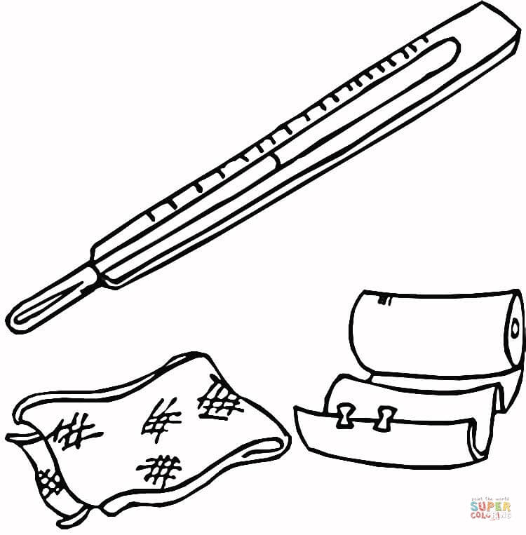 first aid kit coloring page free printable coloring pages