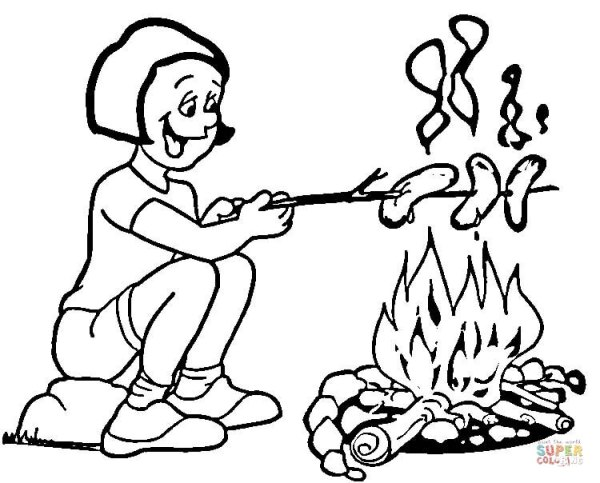 camping coloring page # 12