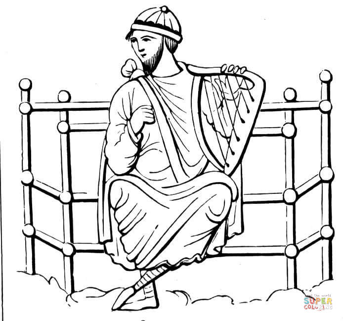 king david coloring page free printable coloring pages
