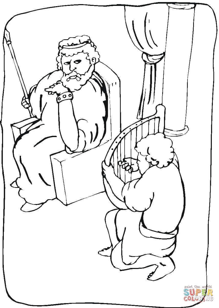 King Saul Coloring Page Free Printable Coloring Pages