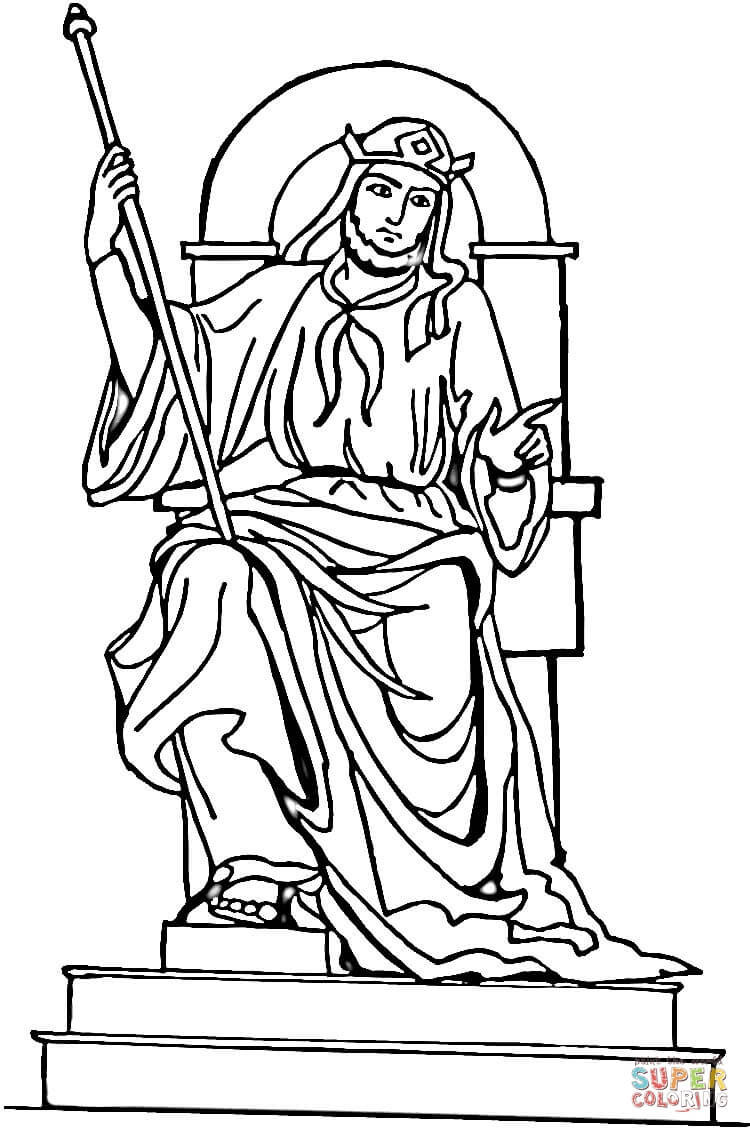 King Solomon Coloring Page Free Printable Coloring Pages
