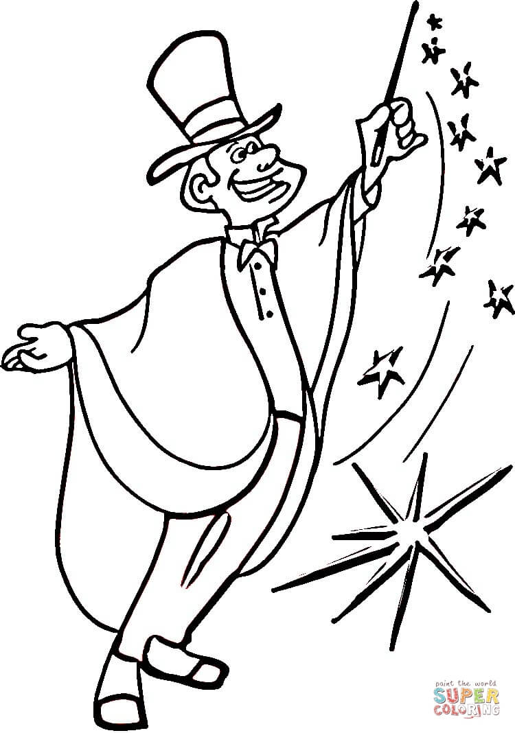 Magic Coloring Page Free Printable Coloring Pages
