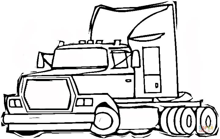 semi trailer truck coloring page free printable coloring pages