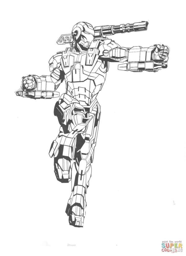 ironman coloring page # 35
