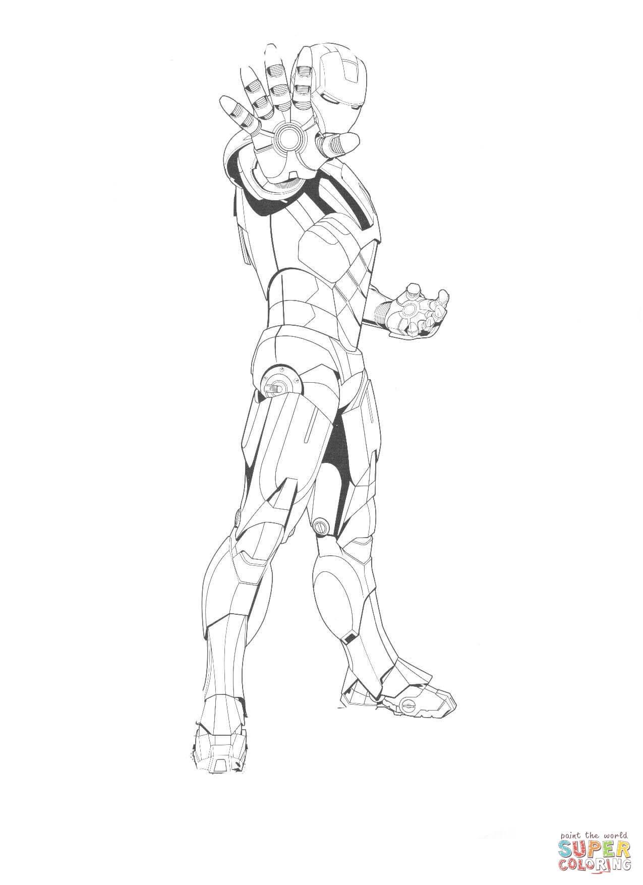 Desenho De Homem De Ferro Esta Pronto Para Lutar Para
