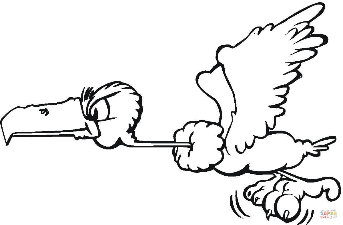 Flying Buzzard Coloring Page