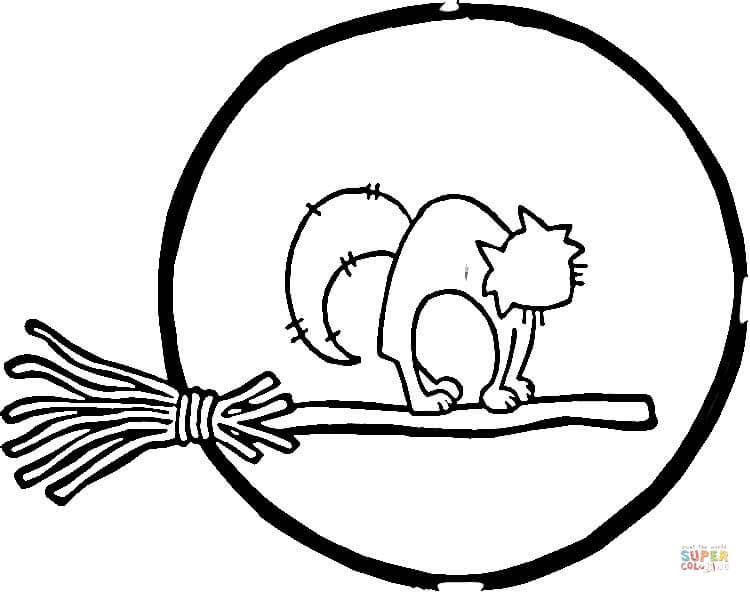 full moon and cat coloring page free printable coloring pages