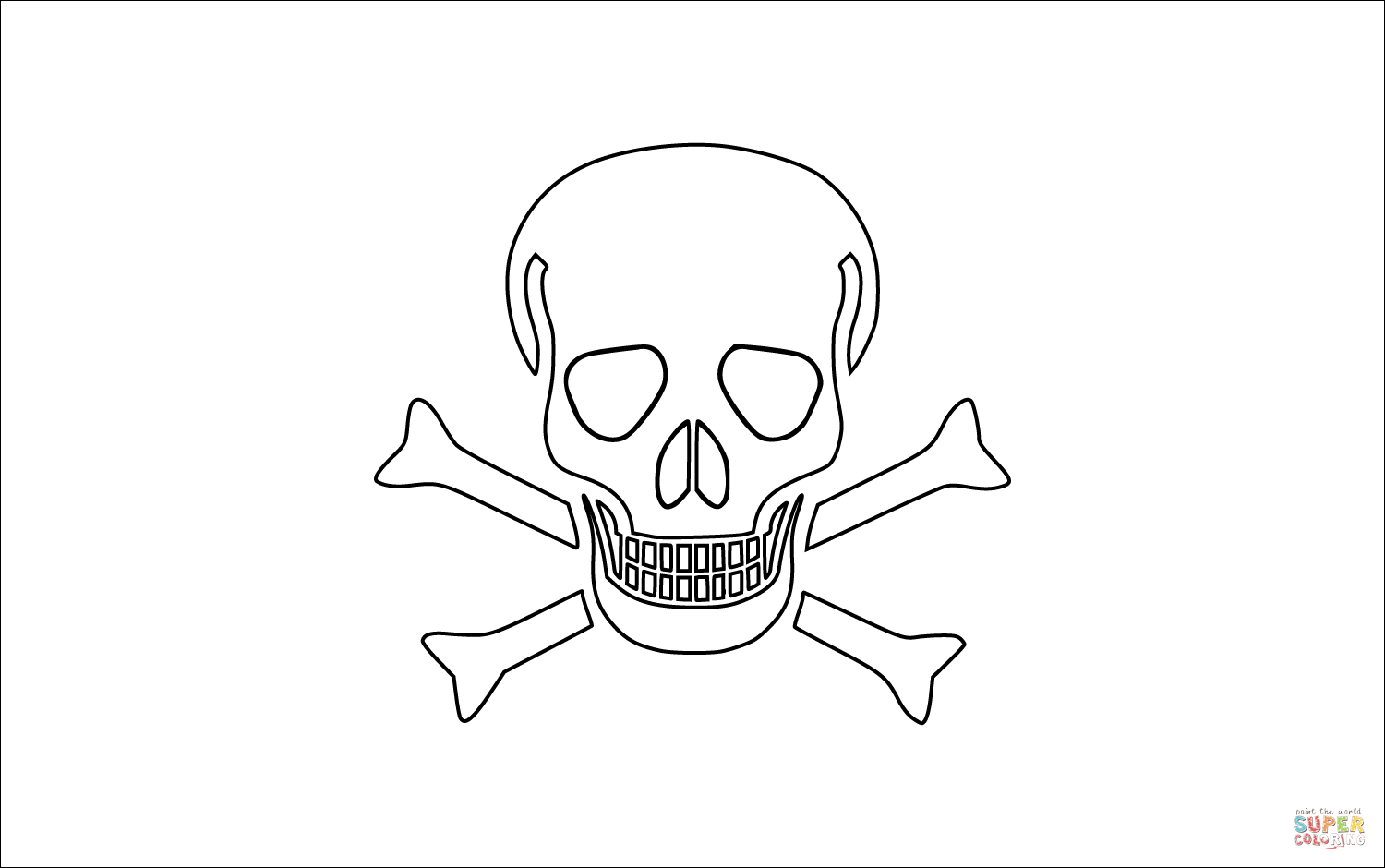 Pirate Map Coloring Pages