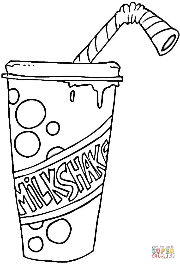 strawberry milkshake page free printable