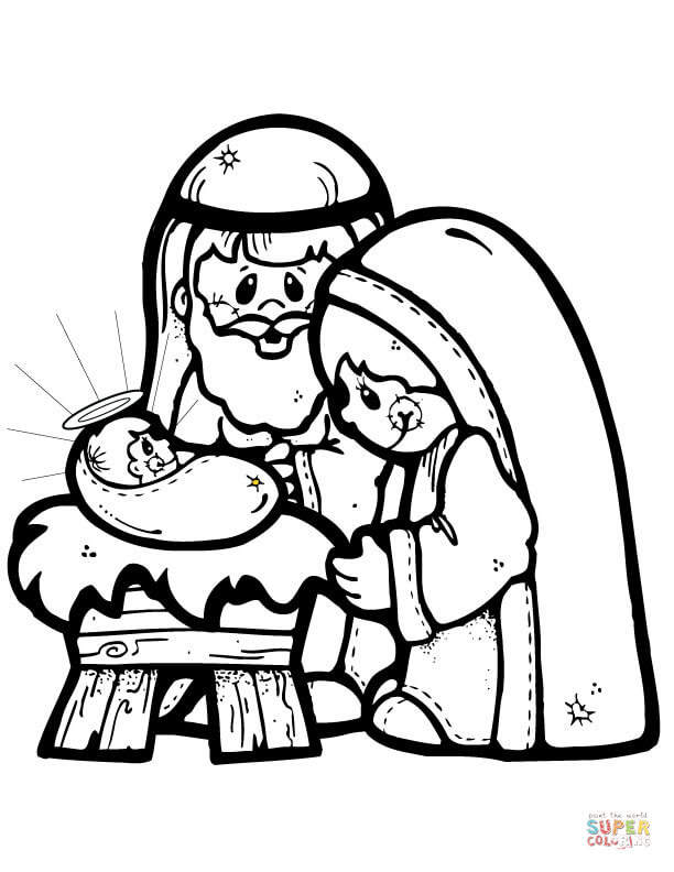 Nativity Scene Coloring Page Free Printable Coloring Pages
